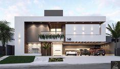 Ideas For Home Modern Exterior Design Simple Modern House Facades, Modern Architecture House, Modern House Plans, Architecture Design, Chinese Architecture, Futuristic Architecture, Modern Houses, Computer Architecture, System Architecture