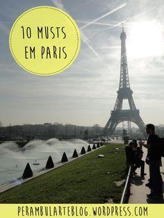 As dez principais atrações em Paris, a cidade luz.
