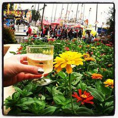 Enjoying wine at L.A. County Fair