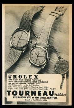 1952 Rolex Oyster Phantom Crown vintage print ad.  #rolex #oyster #phantom #crown #vintage #classic #watch #watches #ads #advertisements #stawc