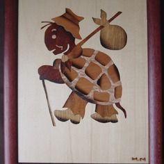 Marqueterie d' une tortue sur le départ du voyage 2008