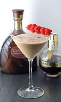 Chocolate Raspberry Martini   #cocktail honeyandbirch.com