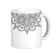 Mandala Ceramic Mug Mandala Coffee Mug Mandala Mug by AModernStyle