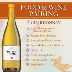 Sutter Home Food & Wine Pairing - Chardonnay