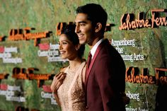 Actors #Dev Patel right and #Freida Pinto arrive at the Wallis Annenberg Center for the Performing Arts Inaugural Gala on Oct. 17 2013 in Beverly Hills. (AP photo)  http://tnie.in/16g4fOb