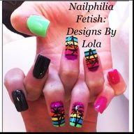 Summer nail designs i did :)