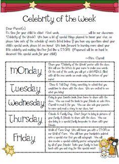 The First Grade Parade: Celebrity of the Week Classroom Behavior, Kindergarten Classroom, School Classroom, Classroom Themes, Classroom Activities, Classroom Management, Movie Classroom, Carnival Classroom, Future Classroom