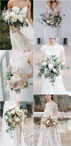 elegant neutral wedding bouquets by dora Wedding Brooch Bouquets, Bride Bouquets, Flower Bouquet Wedding, Wedding Flower Guide, Floral Wedding, Dream Wedding, Wedding Day, Wedding Table, Wedding Ceremony
