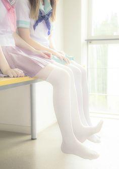 [ • pastel - school uniform - seifuku - sailor uniform - via mydarlingrainbow.tumblr.com • ]