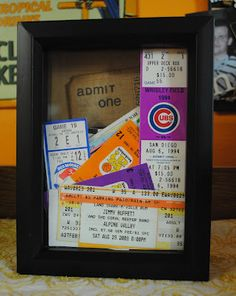 Ticket Stub Shadow Box