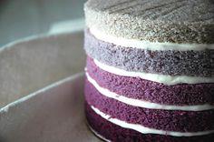 layered cakes, shades of purple, vanilla cake, tiered cakes, layer cakes, purpl cake, wedding cakes, purple cakes, ombr cake