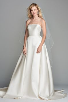 WToo by Watters 10204 Atlee Timeless Mikado Ball Gown Wedding Dress - Off White Bride Sexy Wedding Dresses, Perfect Wedding Dress, Bridal Dresses, Strapless Dress Formal, Wedding Gowns, 20s Wedding, Ivory Wedding, Princess Wedding, Wedding Beauty