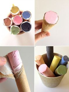 What's summer without some sidewalk art? You can whip up your own homemade chalk thanks to Poppy Haus (via Playful Learning). Sure, it's a little extra work compared to buying chalk–but the kiddos will get a kick out of helping to create their medium and their using it to turn cement into master art. #DIY