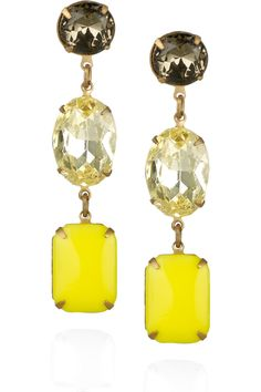 Vintage Glass Drop Earrings by Lulu Frost #Earrings #Lulu_Frost