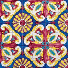 The History of Italian Ceramic Tiles - Estrosìa Mosaic Patterns, Pattern Art, Ceramic Painting, Ceramic Art, Italian Pattern, Hand Craft Work, Paisley Art, Italian Tiles, Tile Art