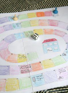 Ma fille adore les jeux de société. Elle aime jouer au Monopoly, au Scrabble, à la bataille, au mistigri, et elle est friande de tous les nouveaux jeux qui croisent sa route. Alors, dernièrement, nous avons designé un jeu de l'oie ensemble. C'est très amusant finalement de trouver de quoi remplir les cases et on peut le faire sur de nombreux thèmes. Ma fille aime l'école donc elle a imaginé que le but de ce jeu de l'oie, c'est d'arriver à l'école sans encombre, mais on peut aussi en…