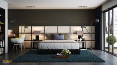 simple dark bedroom design