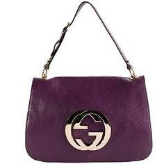 Gucci Leather 'Britt' Flap Shoulder Handbag