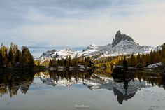 The peak on the lake by Daniele Bisognin (Dolomites, Italy)