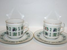 Royal Doulton Tapestry Cup and Saucer,  Royal Doulton Coffee Cup, Royal Doulton Tea Cup, Fine Bone China, Royal Doulton Tapestry, Set of Two