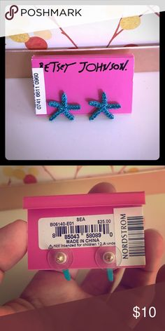 Betsy Johnson Starfish Earrings! Never been worn! Super cute! Make me an offer Juicy Couture Jewelry Earrings