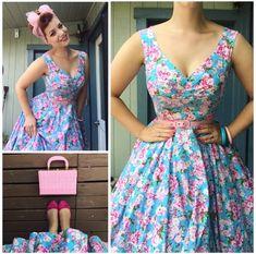 My Week In Outfits! - Miss Victory Violet Moda Fashion, 1950s Fashion, Vintage Fashion, Womens Fashion, Vestidos Vintage, Vintage Dresses, Vintage Outfits, Moda Vintage, Vintage Mode