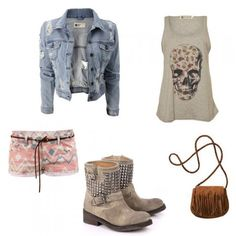 #Denim #jacket for looks for a walking