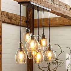 Paxton Glass 8-Light Pendant - Pottery Barn