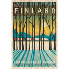 Missy Ames Vintage Travel Poster - Finland