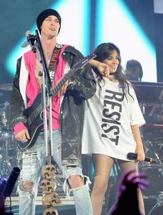 MGK and Camila Cabello performing at ALCU