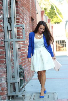 Cobalt Blue & Flare Skirt-10 by Stylish Petite, via Flickr.  I Love this look, classy, sassy, gorgeous!