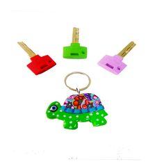 Turquoise Turtle key chain, key chain, keychain, key holder, unique key chain, bag decorate, polymer clay key chain,cute key chain