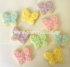 butterfly cookies for garden birthday party
