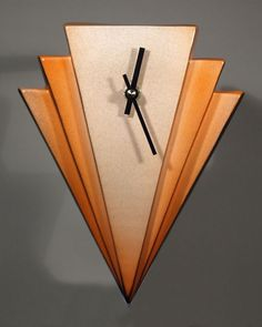 Echo Of Deco Art Deco Ceramic Manhattan Wall Clock Clock Art, Diy Clock, Clock Decor, Traditional Clocks, Wire Tree Sculpture, Barn Wood Crafts, Modern Clock, Ceramic Wall Art, Art Deco Glass