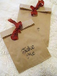"""""""Take Me"""" favor bag"""