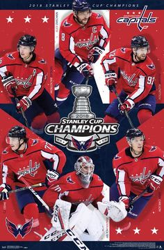 SHIPS 6 15  Washington Capitals 2018 Stanley Cup Champions 6-Player  Commemorative 77196e941