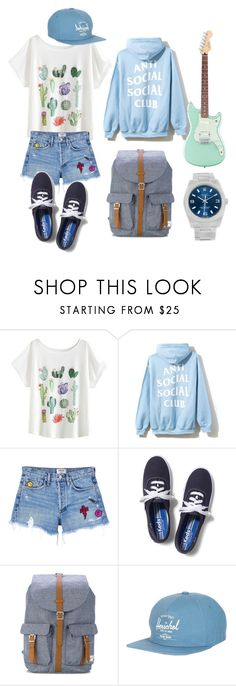 """""""cool kid"""" by gococo1450 on Polyvore featuring AGOLDE, Keds, Herschel Supply Co. and Rolex"""