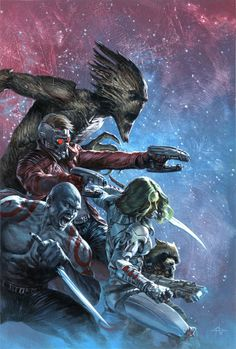#Guardians of the Galaxy #11 #Gabriele Dell'Otto #comic #geek #illustration #graphic #graphic art #marvel