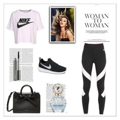 """nike"" by ohanita7 on Polyvore featuring moda, NIKE, Balmain, Marc Jacobs y MAC Cosmetics"