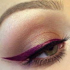 Burgundy eyeliner. Copyright VanityA (Beauty By Alexandra Anele)