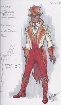 Gregory A. Poplyk Costume Design for Ringmaster, Act in Ringling Brothers and Barnum & Bailey: Dragons!