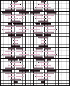 Figure Eights with Horizontal Hungarian Decorative Stitch Diagram 1