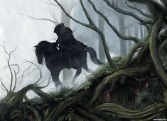 Here's a collection of artworks, illustrations and photo manipulated images depicting Mirkwood - a dark, scary forest populated by scary creatures. Glorfindel, Morgoth, Middle Earth, Lord Of The Rings, Tolkien, Lotr, The Hobbit, Mystic, Fantasy Art