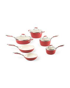 Made In Italy 10pc Ceramic Non Stick Cookware Set