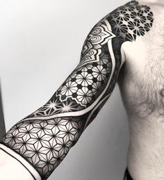 Search inspiration for a Geometric tattoo. Cool Forearm Tattoos, Upper Arm Tattoos, Leg Tattoos, Tattoos For Guys, Sleeve Tattoos, Tatoos, Geometric Sleeve Tattoo, Geometric Tattoo Design, Line Work Tattoo