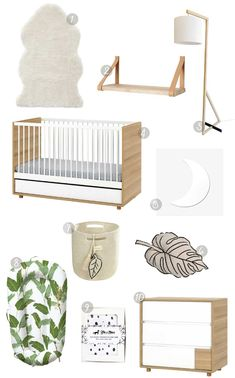 Back to basics with this natural nursery look. Natural Nursery, Little Monkeys, Unique Furniture, Get The Look, Kids Room, Clever, Home Decor, Room Kids, Decoration Home