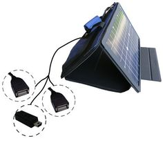 SunVolt MAX Solar Charger for GoPro Tip 21 and two other devices; charge from sun at wall outlet-like speed $139.95