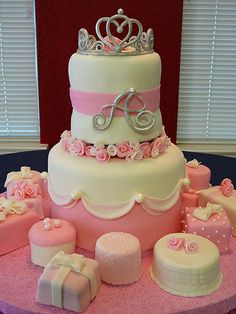 princess cake and mini cakes