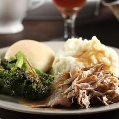 Trisha Yearwood's Crock Pot Pork Loin --- very easy and SO GOOD. it makes a gravy that is one of the best i've ever had and the pork is tender and juicy with a great mild flavor.