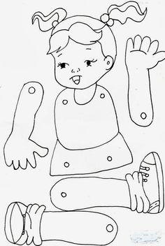 Jardín Actividades E Ideas, Actividades Ideas - Diy Crafts - maallure Body Parts Preschool Activities, Preschool Body Theme, Preschool Classroom, Preschool Worksheets, Preschool Crafts, Toddler Activities, Crafts For Kids, Diy Crafts, Toddler Learning